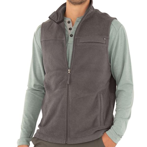 Free Fly Apparel Bamboo Polar Fleece Vest Iron Grey
