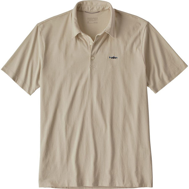 Patagonia Men's Polo - Trout Fitz Roy Pumice