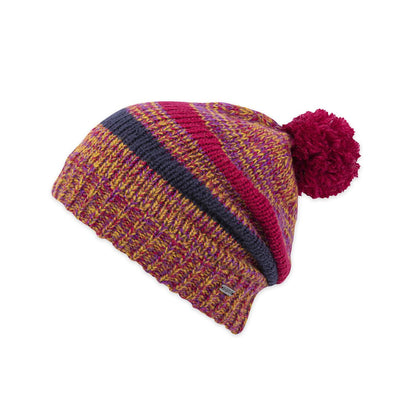 Pistil Tattle Slouchy Beanie for Women Berry