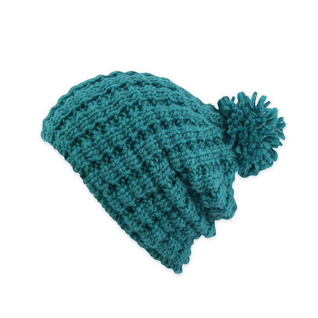 Pistil Tito Slouchy Beanie for Women Teal