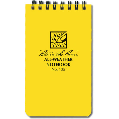 "3"" X 5"" WATERPROOF NOTEBOOK"