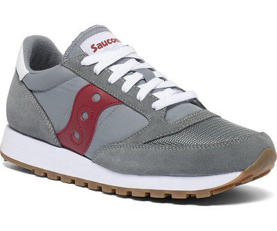 Saucony Jazz Original Vintage Shoes for Men Grey Red