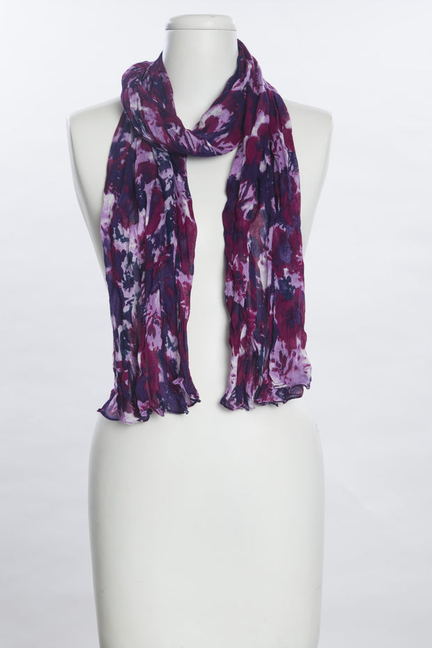 Splashed Flowers Scarf for Women