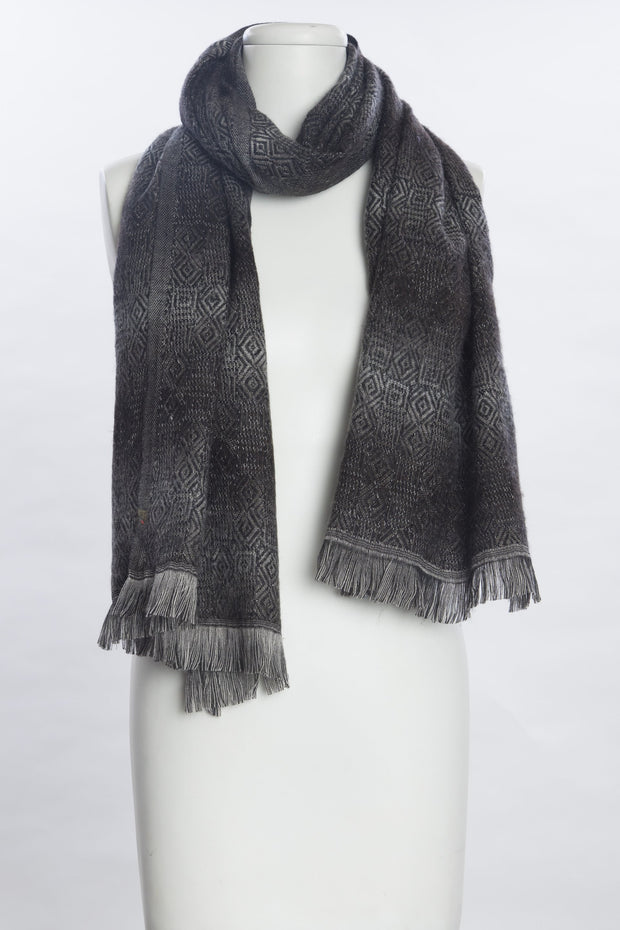 Shaded Effect Jacquard Scarf for Women