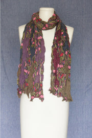 VSA Tapestry Design Scarf for Women Grey