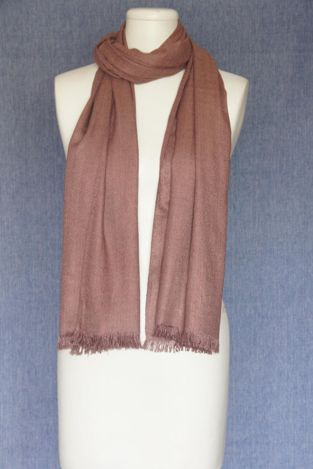 VSA Solid Color Fancy Yarn Pashmina Scarf for Women Old Rose