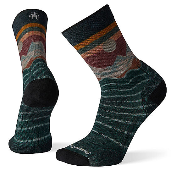 PhD Outdoor Light Front Range Print Hiking Crew Socks for Men