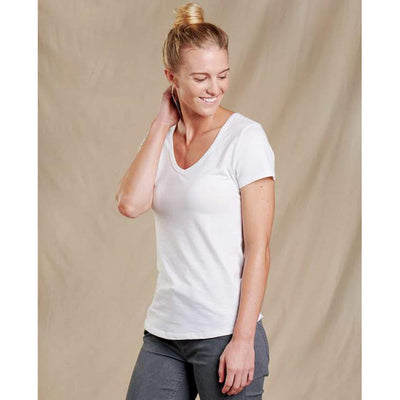 Toad&Co Marley II Short Sleeve Tee for Women White