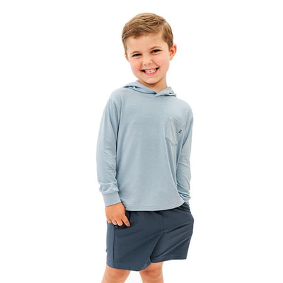 Free Fly Apparel Breeze Shorts for Toddlers Blue Dusk