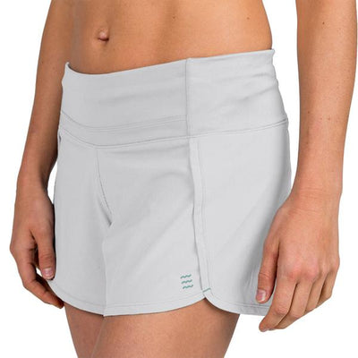 Free Fly Apparel Bamboo Lined Breeze Shorts for Women Light Grey #color_light-grey
