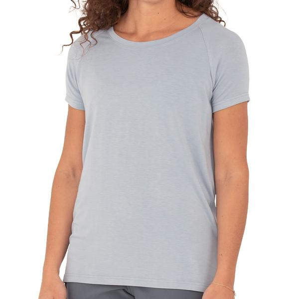 Free Fly Apparel Bamboo Explorer Tee for Women Cays Blue