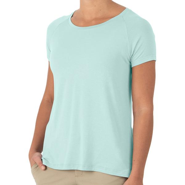 Free Fly Apparel Bamboo Explorer Tee for Women Heather Mint