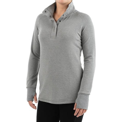 Free Fly Apparel Bamboo Thermal Fleece Pullover Heather Grey