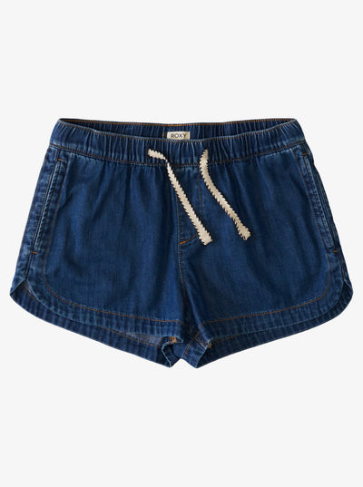 Roxy New Impossible Lightweight Denim Shorts for Women Medium Blue