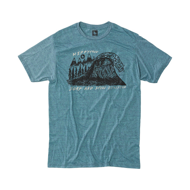 Hippy Tree Peaks Tee for Men Heather Teal