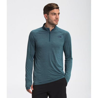 The North Face Wander 1/4 Zip Pullover for Men #color_monterey-blue-heather