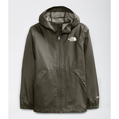 The North Face Zipline Rain Jacket for Boys New Taupe Green