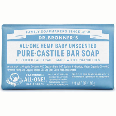 Baby Unscented Pure-Castile Bar Soap