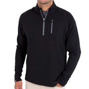 Bamboo Fleece Quarter Zip Pullover for Men