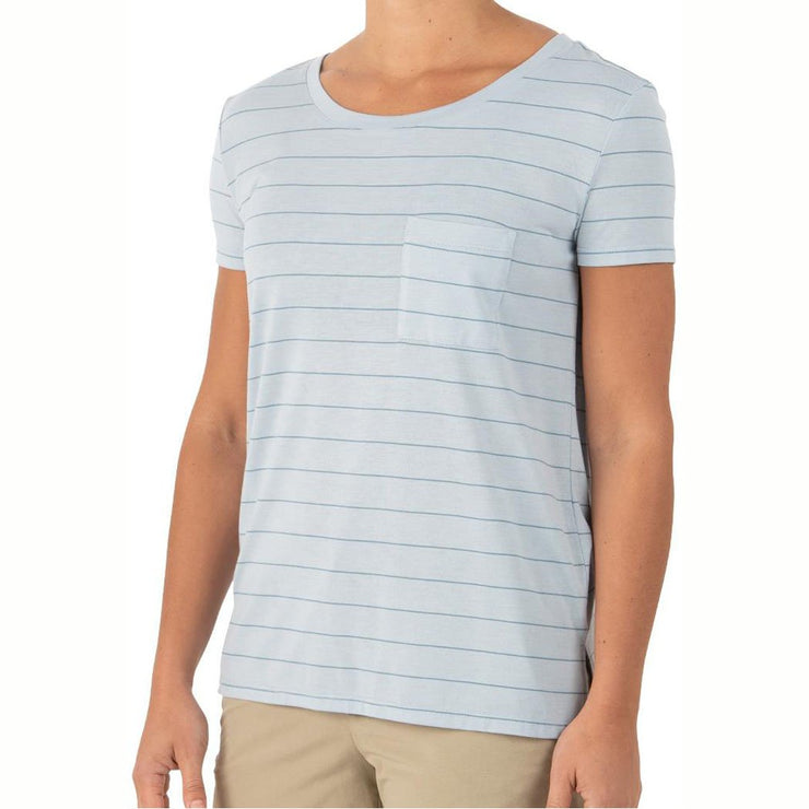 Bamboo Channel Pocket Tee for Women