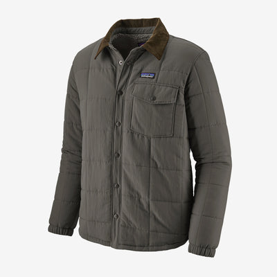 Patagonia Isthmus Quilted Shirt Jacket for Men Forge Grey