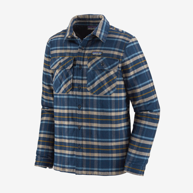 Patagonia Insulated Fjord Flannel for Men Independence New Navy