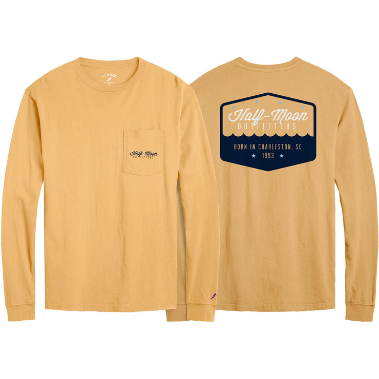 Long Sleeve Badge Logo Pocket T-Shirt