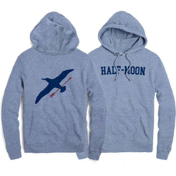 vin-chateau-chalon Collegiate Albatross Hoody Heather Power Blue