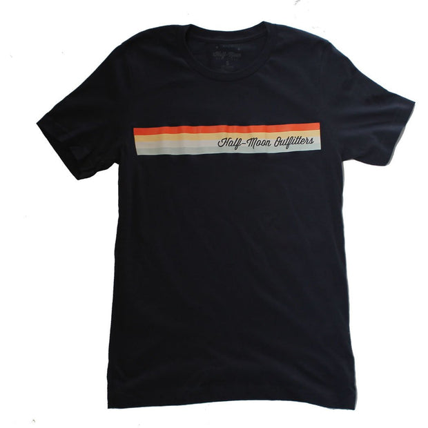 Short Sleeve Cigar Stripe Logo T-Shirt