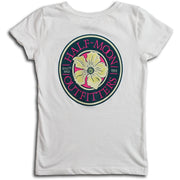Short Sleeve Flower Logo T-Shirt for Girls
