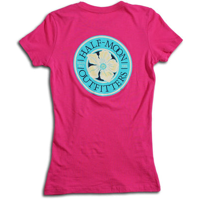 Short Sleeve Flower Logo T-Shirt for Women