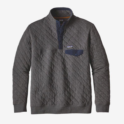 Patagonia Organic Cotton Quilt Snap-T for Men Forge Grey
