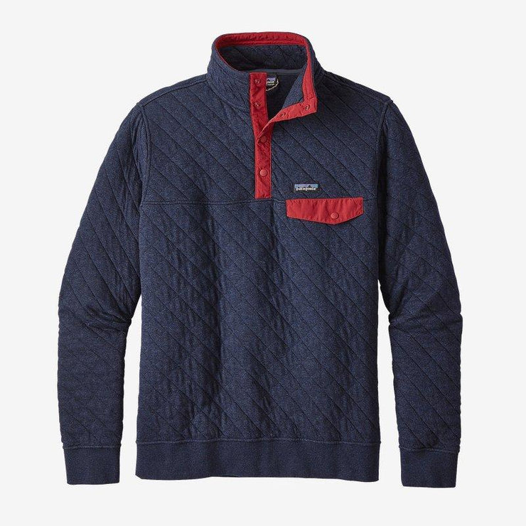 Patagonia Organic Cotton Quilt Snap-T for Men Navy Blue
