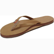 Leather Single Arch Narrow Strap Sandal for Women