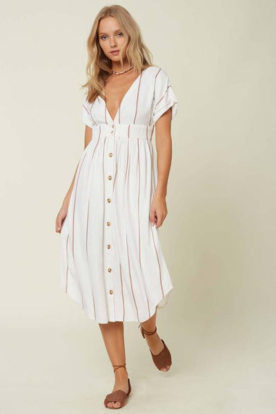 REID STRIPE MIDI DRESS for Women