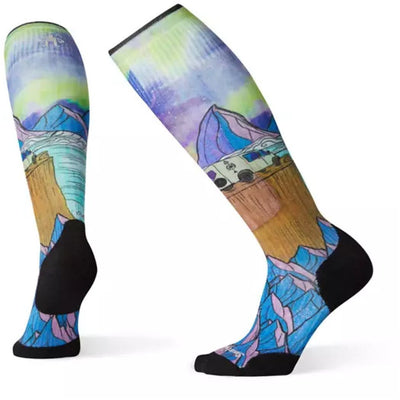 PhD Ski Light Elite Northern Dreams Print Socks for Women