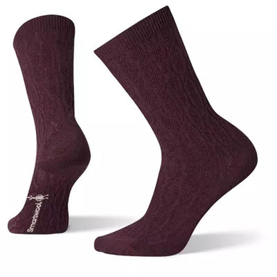 Chain Link Cable Crew Socks for Women