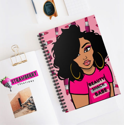 Beauty Shack Babe Notebook - Pink
