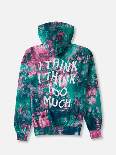 I Think I Think Too Much Tie Dye Hoodie