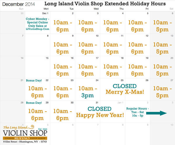 LIVS Extended Holiday Hours 2014