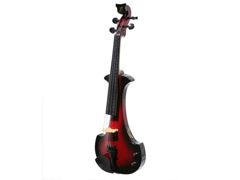 Bridge Aquila 4-String Electric Violin Outfit - Black / Red