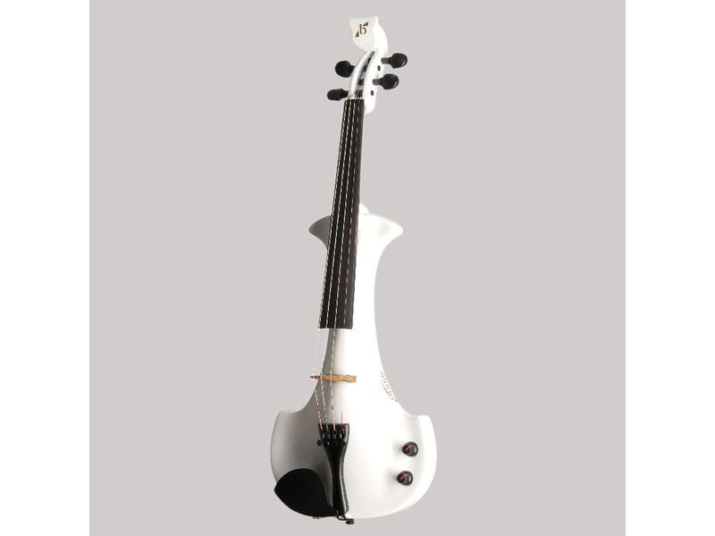 Bridge Aquila 4-String Electric Violin Outfit - Black / White