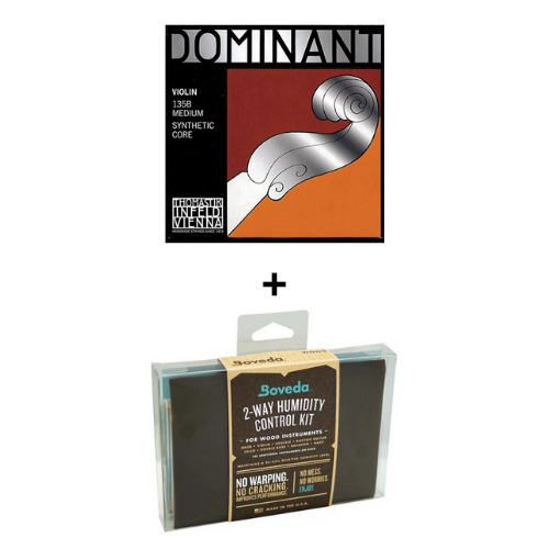 HOLIDAY BUNDLE - Dominant Violin 135B + Boveda Kit (small)