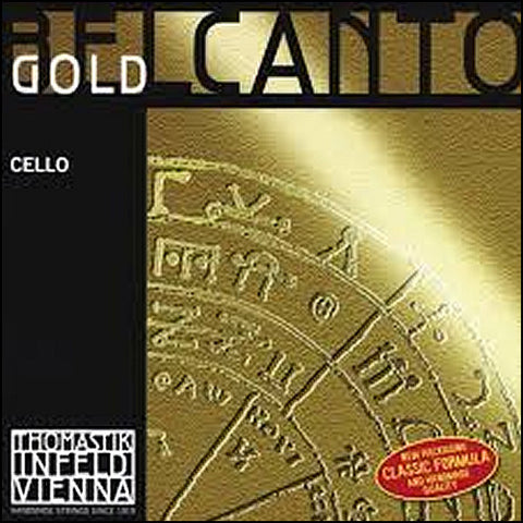 Belcanto Gold Alloy / Tungsten Cello Strings - Ball End
