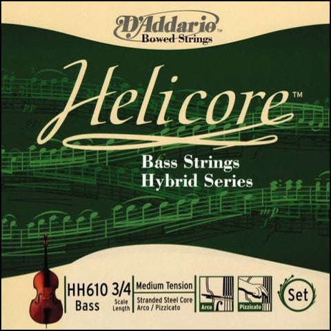 Helicore Hybrid Nickel Bass Strings - Ball End