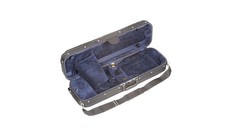 Bobelock 1002 Wooden Oblong Suspension Violin Case - Blue