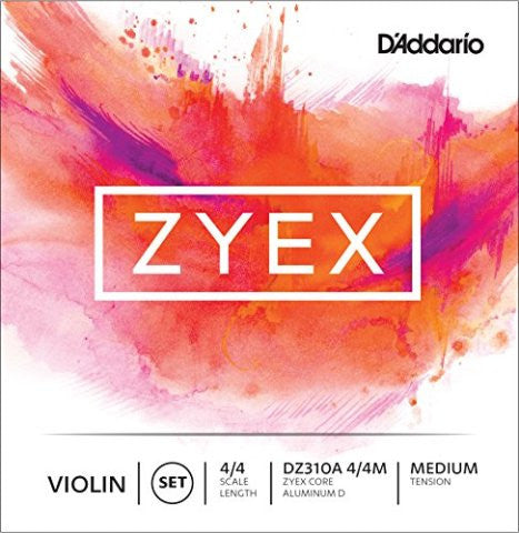 D'Addario Zyex Violin Strings - Ball End