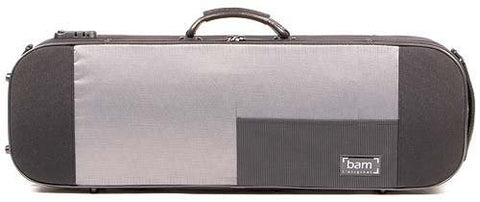 The Bam Stylus 4/4 Violin Case In Black - Front View