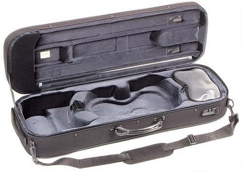 The Bam Stylus 4/4 Violin Case In Black - Inside View