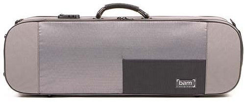 The Bam Stylus 4/4 Violin Case In Gray - Front View